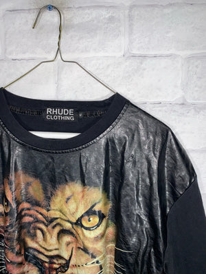 Black Lion Rhude Graphic T-Shirt