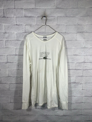 White Nike Longsleeve Sweater