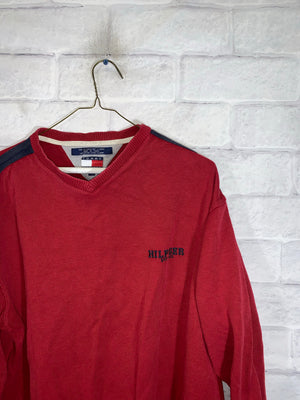 Red Tommy Hilfiger Longsleeve Sweater