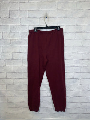 Vintage Burgundy Walax College Sweatpants