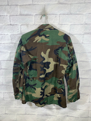 Military Army Camo Full Button Jacket