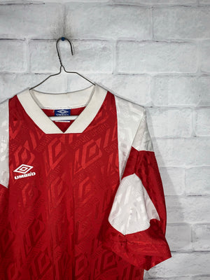 Vintage Red Umbro Sports Jersey