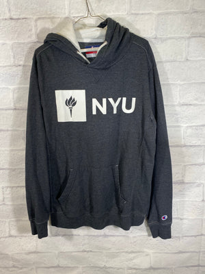 Champion NYU hoodie swearer SZ mens Large