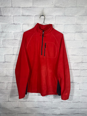 Vintage Red Starter Quarter Zip Longsleeve Sweater