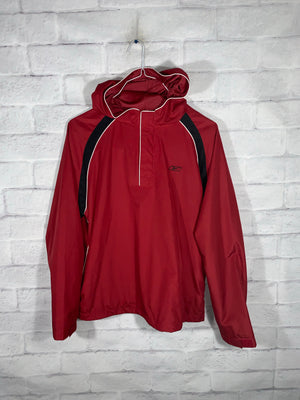 Vintage Red Reebok Quarter Zip Light Jacket