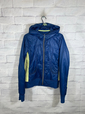 Blue/Yellow Lululemon Full Zip Light Jacket