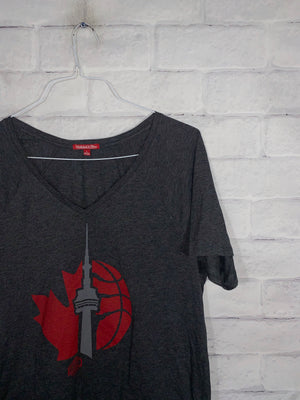 Toronto Mitchell and Ness V neck SZ womens Large