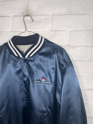 Blue Swingster Full Button Bomber Jacket