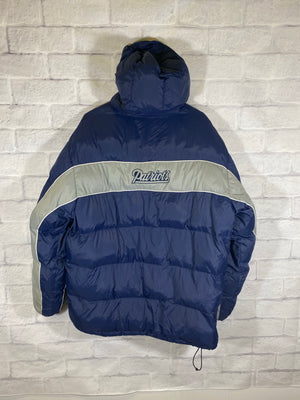 New England Patriots NFL puffer jacket SZ mens Large