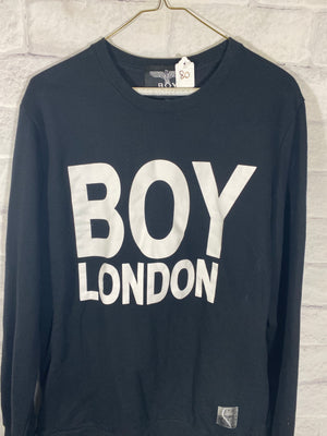 Boy Lonon double graphic cruneck sweater SZ mens womens XXL mens medium