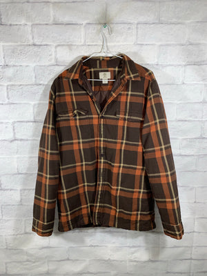 Orange/Brown Timberland Full Button Dress Shirt