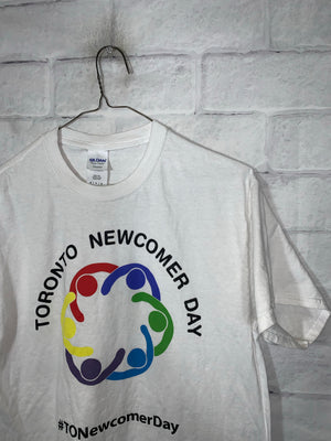 White Toronto Newcomer Day Graphic T-Shirt