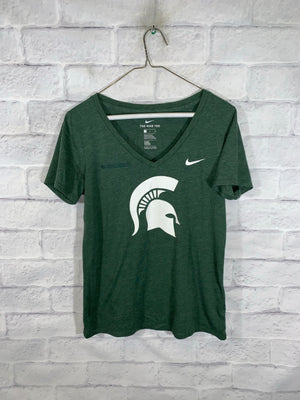 Green Nike Michigan State Spartans Graphic T-Shirt