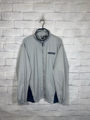 Vintage Grey Starter Full Zip Light Jacket