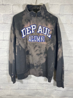 DePaul tye dye quarterzip sweater SZ mens medium