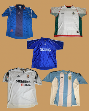 Size Large Vintage Soccer Jersey package - 10 pieces