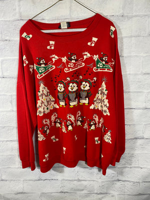 Christmas crewneck sweater SZ womens XL