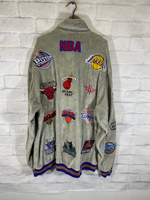 Nba stitched all teams velvet jacket SZ mens 2XL