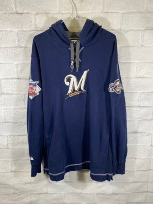 Milwaukee Brewers Bubble font sweater SZ mens Medium