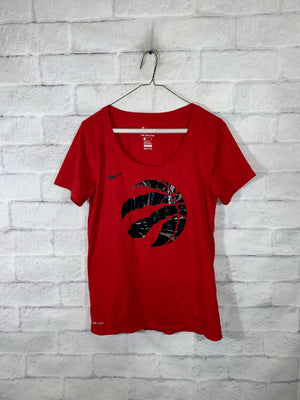 Red NBA Toronto Raptors Nike Dri-fit Graphic Sports T-Shirt