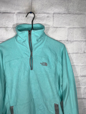 Vintage Teal North Face Quarter Zip Longsleeve Sweater