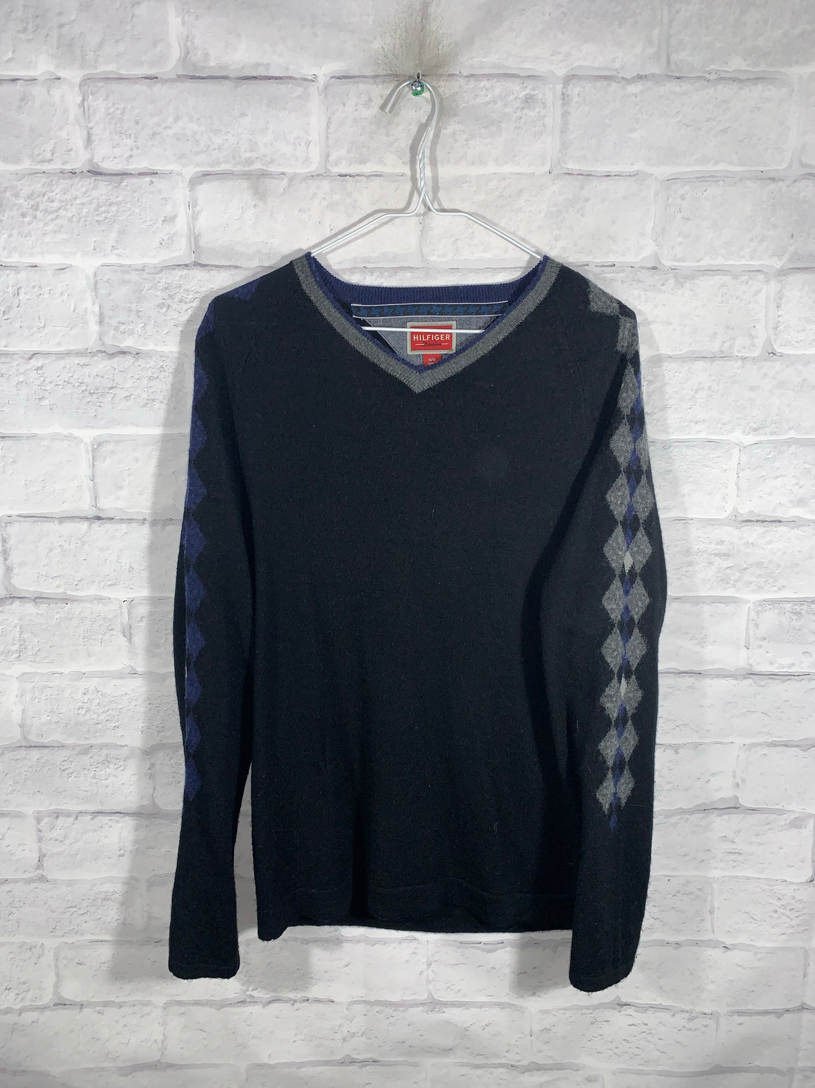 Grey/Blue Tommy Hilfiger Pullover Sweater