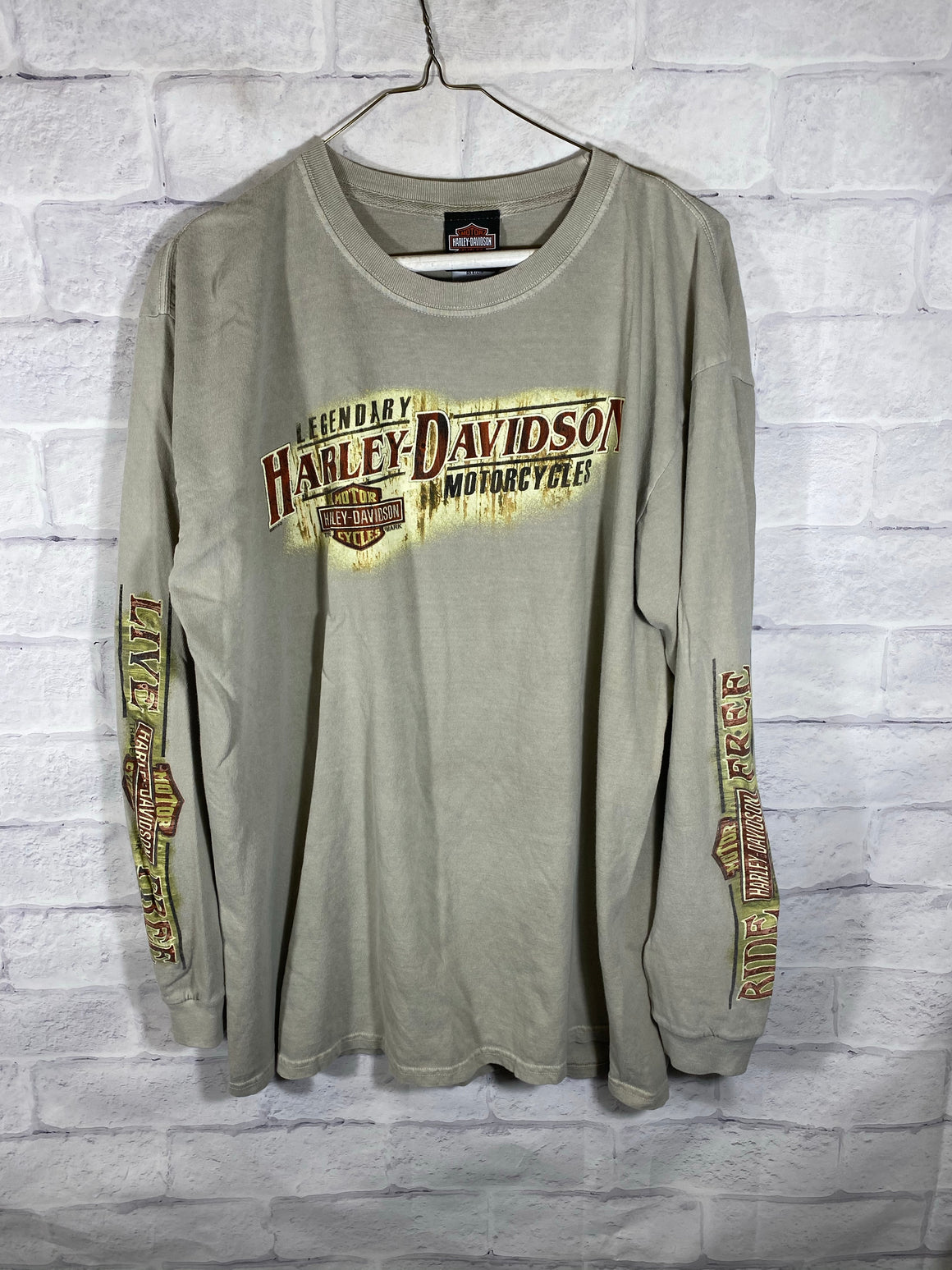Harley Davidson double sided sweatshirt