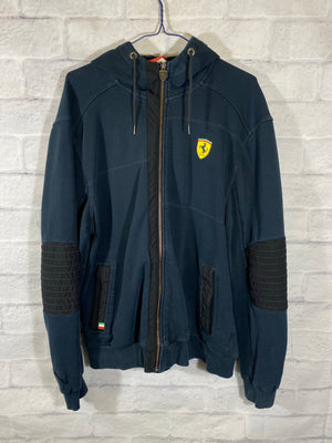 Puma Ferrari black racing track jacket SZ mens Large