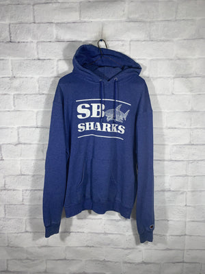 Vintage Blue Champion SB Sharks Longsleeve Sweater