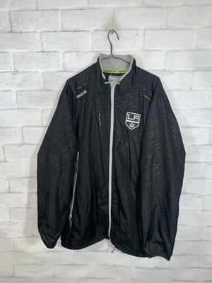 Black Reebok NHL LA Kings Full Zip Light Jacket