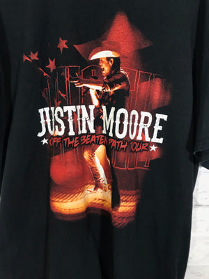 Justin Moore Double graphic band tshirt SZ mens XL