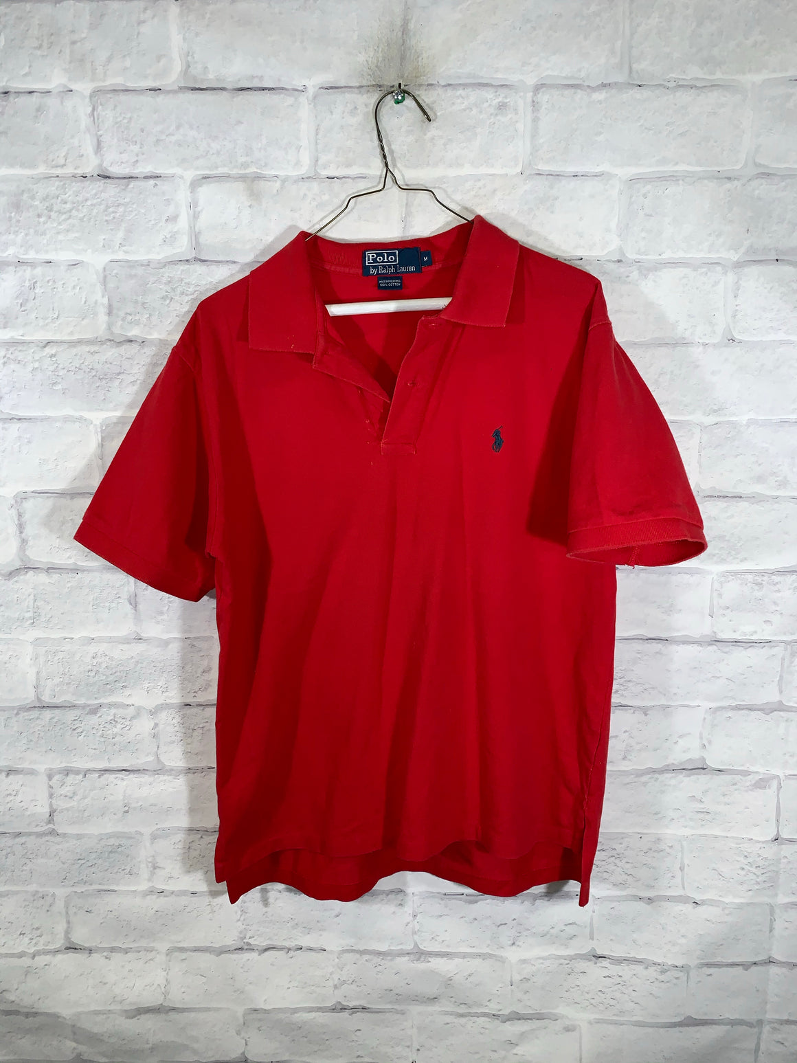 Red Polo Ralph Lauren Quarter Button Golf T-Shirt