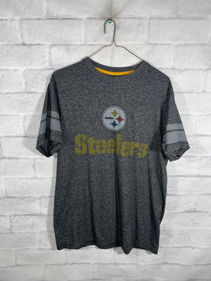 Grey Majestic NFL Pittsburgh Steelers Sports T-Shirt