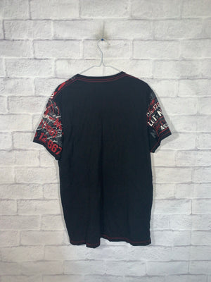 Black/Red Vintage Graphic T-Shirt