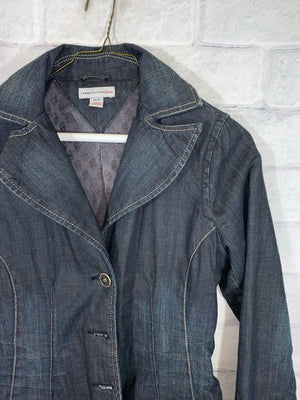 Blue Tommy Hilfiger Full Button Denim Jacket