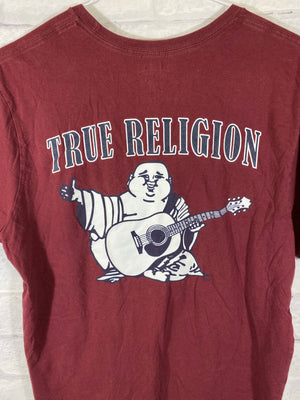 True Religion big logo tshirt SZ mens Large