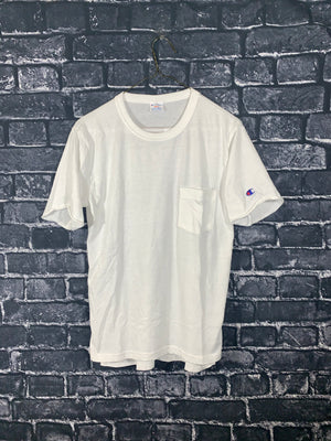 White Champion Graphic T-Shirt
