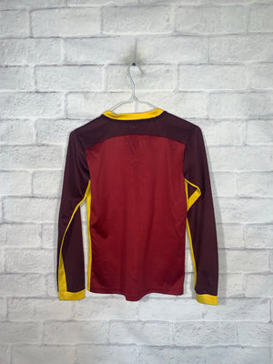 Burgundy Red Nike Longsleeve Sports Jersey