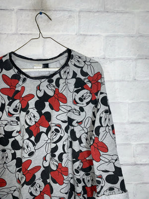 Grey Disney Mickey Mouse Graphic Longsleeve Sweater
