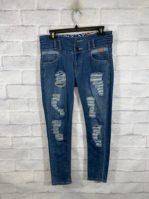 Blue Levi's Ripped Denim Pants
