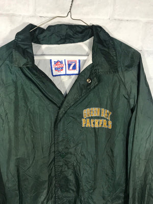 Pro Player Greenbay Packers NFL button down nylon jacket SZ mens XL