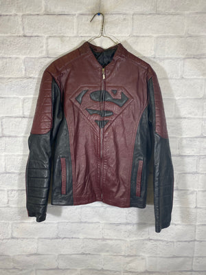 Superwomen leather jacket SZ womens XL