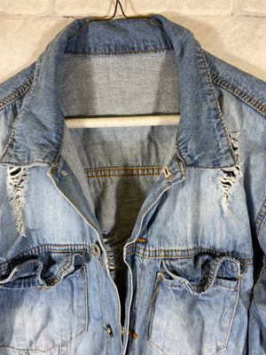 Denim Jean jacket SZ mens medium