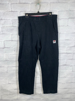 Black Fila Sweatpants