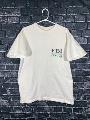 FBI Cancun big 90s graphic tshirt