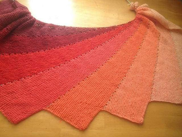 Linda's Arabella Shawl – Work in Progress