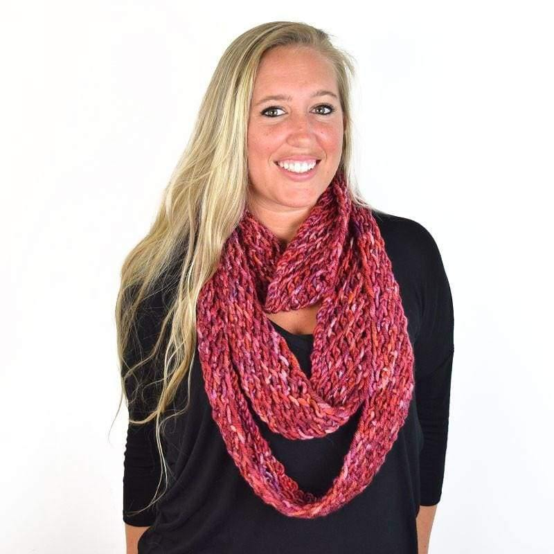 3 DESIGNS KNITTED WITH 1 SKEIN: THE DONNA INFINITY-COWL-SCARF