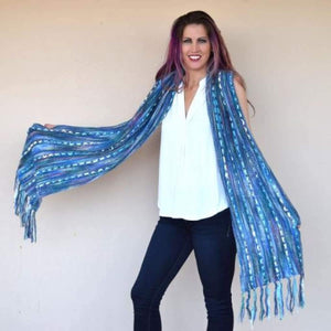 7-Yarn Ribbon Scarf - Knitting Kit