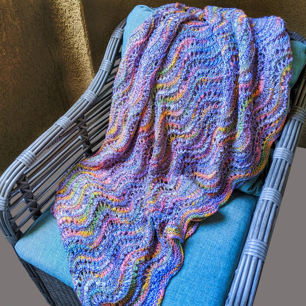 Nalu Blanket Knitting Kit Extra Fine Merino Wool