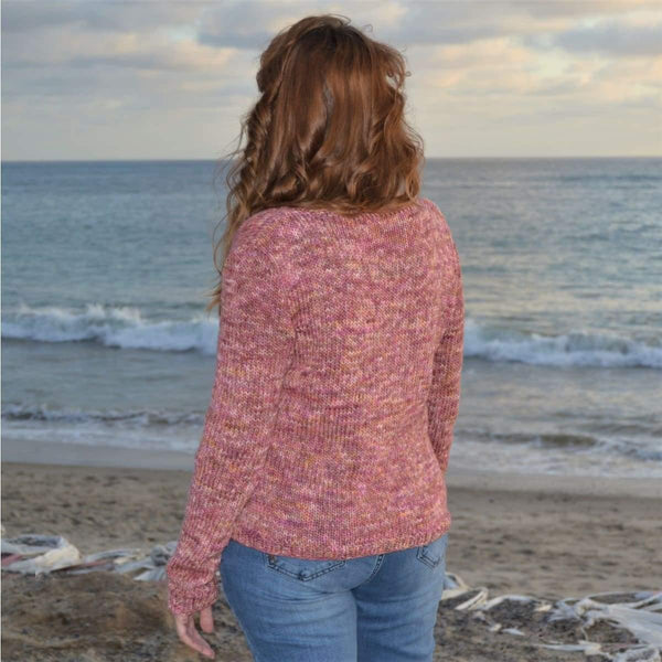 A Little Lace V-neck Sweater - Knitting Kit